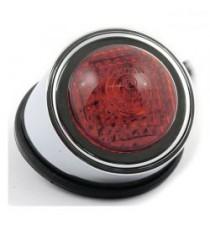 Fanale posteriore Old School type 1 cromato lente rossa