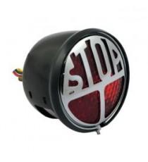 Fanale posteriore STOP nero lente rossa led