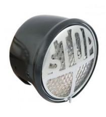 Fanale posteriore STOP nero lente trasparente led