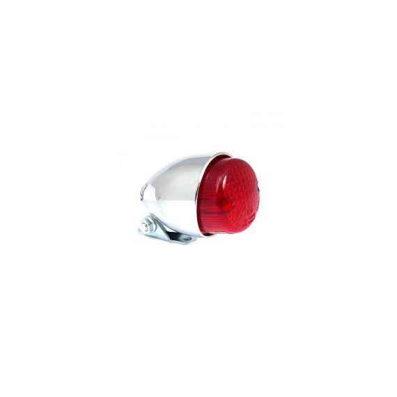 Fanale posteriore texas cromato lente rossa led