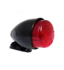 Fanale posteriore texas nero lente rossa