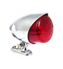 Fanale posteriore colorado cromato lente rossa led