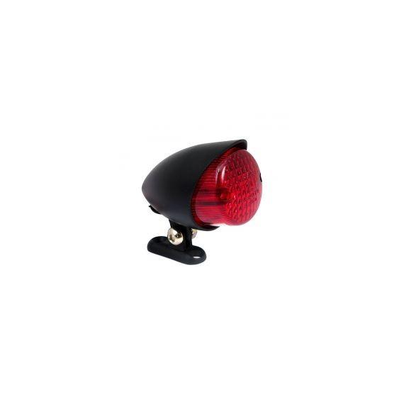 Fanale posteriore colorado nero lente rossa led