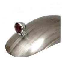 Fanale posteriore bates Style cromato lente rossa led