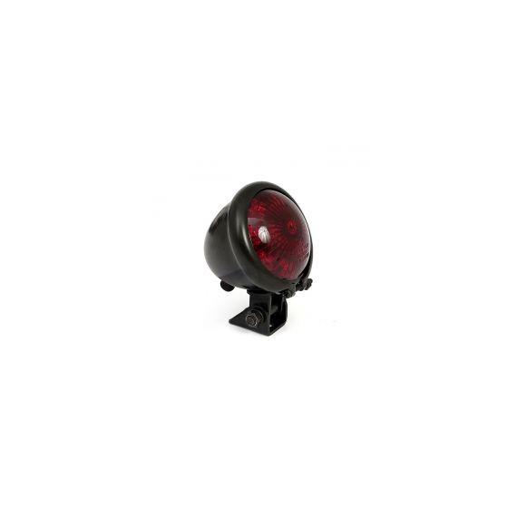 Fanale posteriore bates nero lente rossa led