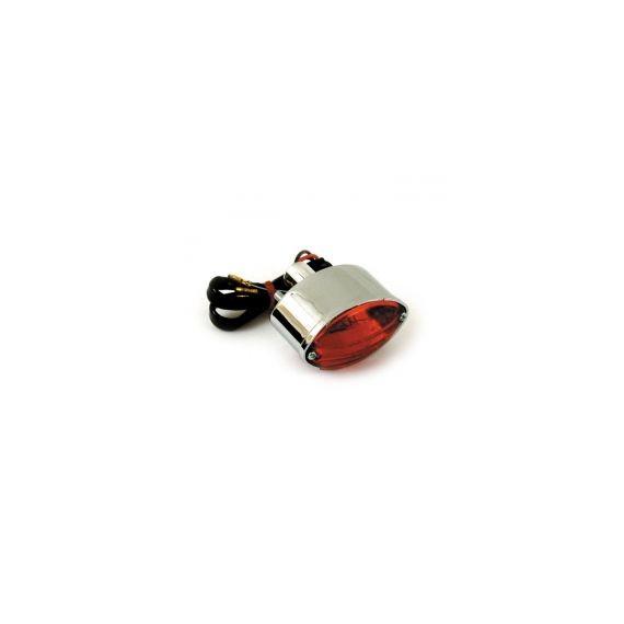 Fanale posteriore cateye mini cromato lente rossa
