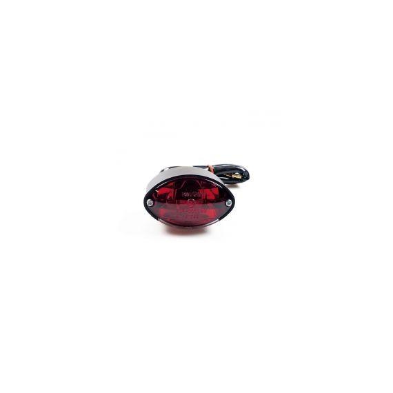 Fanale posteriore cateye mini nero lente rossa