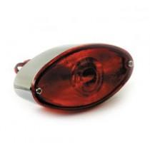 Fanale posteriore cateye cromato lente rossa