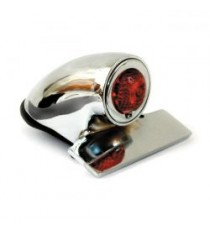 Fanale posteriore sparto lucido lente rossa