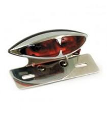 Fanale posteriore l.a. cromato lente rossa