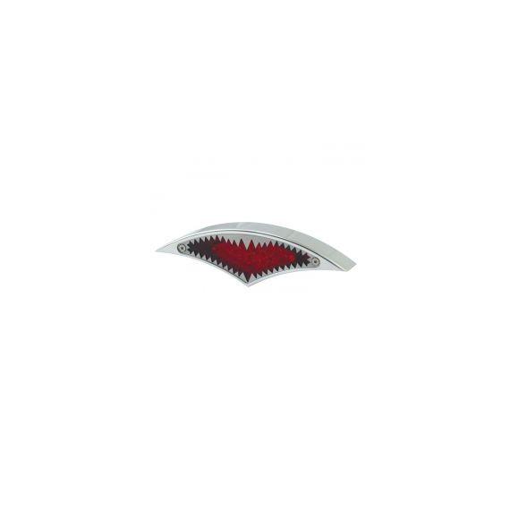 Fanale posteriore big mouth cromato lente rossa