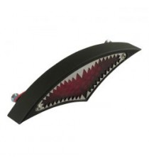 Fanale posteriore big mouth nero lente rossa