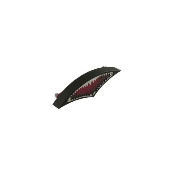 Fanale posteriore big mouth nero lente rossa