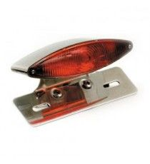 Fanale posteriore snakelight cromato lente rossa