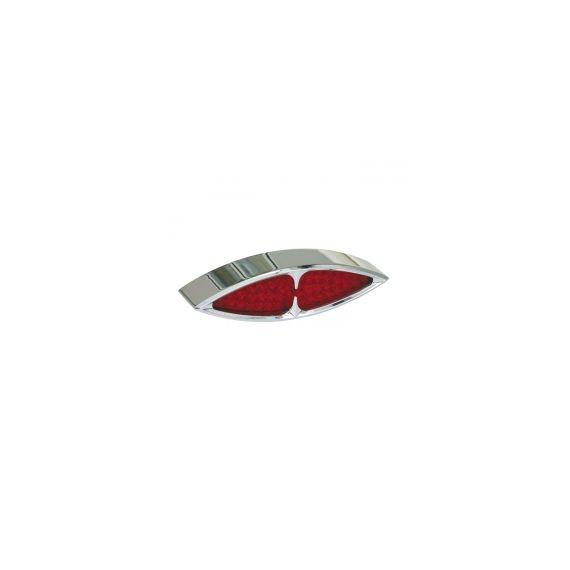 Fanale posteriore masai cromato lente rossa