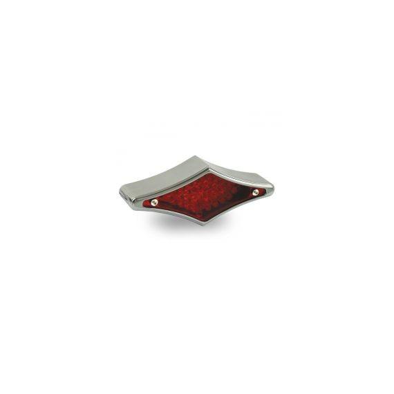 Fanale posteriore diamond cromato lente rossa