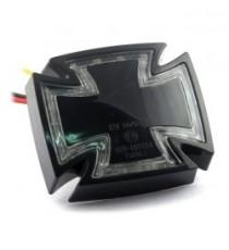 Fanale posteriore gothic nero lente trasparente