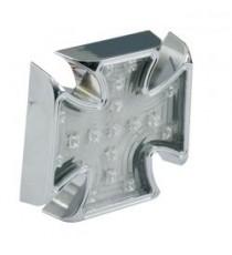 Fanale posteriore maltese cross cromato lente trasparente