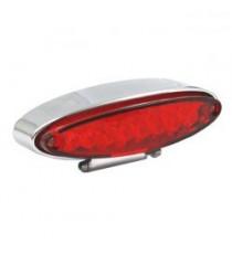Fanale posteriore lpl mini cromato lente rossa