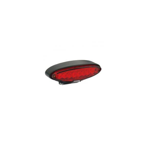 Fanale posteriore lpl mini nero lente rossa