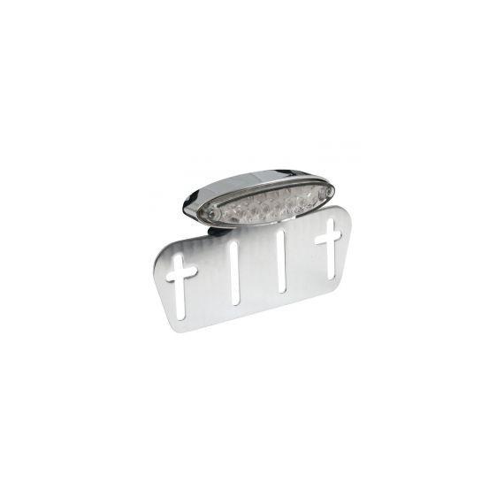 Fanale posteriore lpl mini cromato lente trasparente