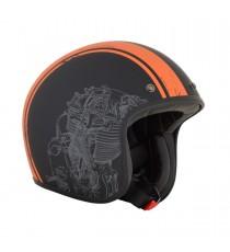 Casco Jet AFX raceway nero arancione Opaco