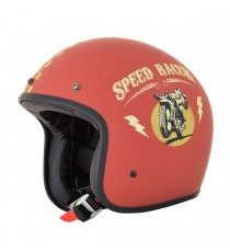 Casco Jet AFX speed racer rosso Opaco