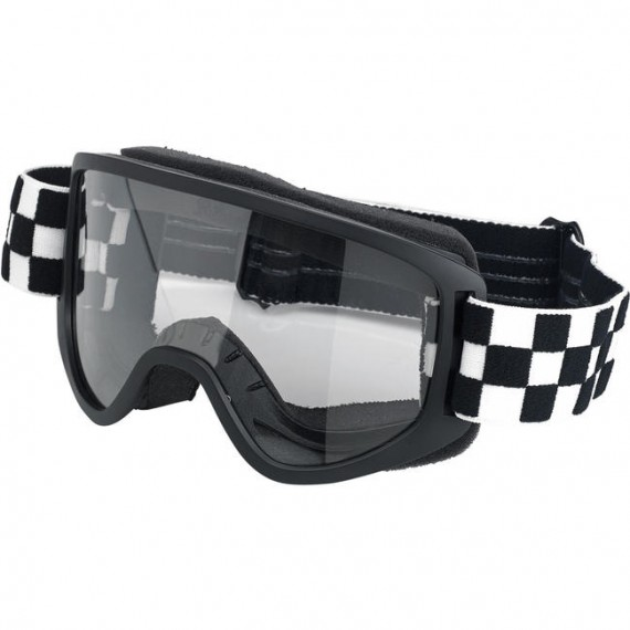 Maschera moto Biltwell checkers black Moto 2.0