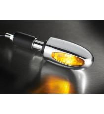 Freccia alogena Bar End ottone cromato Kellermann BL 1000 gialla