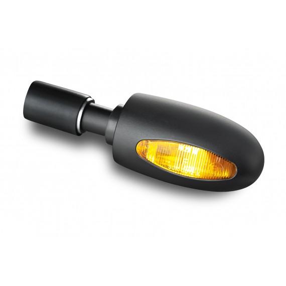 Freccia alogena Bar End ottone nero Kellermann BL 1000 gialla