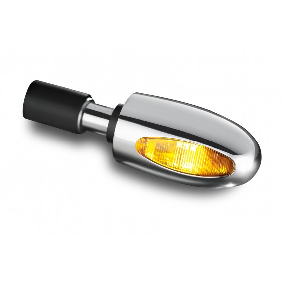 Freccia alogena Bar End alluminio lucidato Kellermann BL 1000 gialla