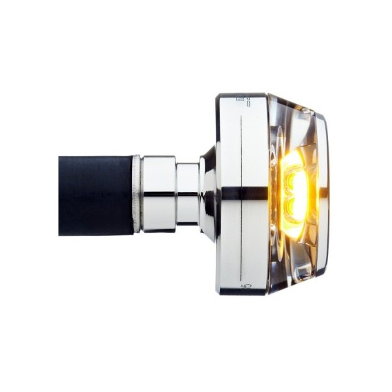 Freccia led Bar End cromata Motogadget M-Blaze Disc sinistra