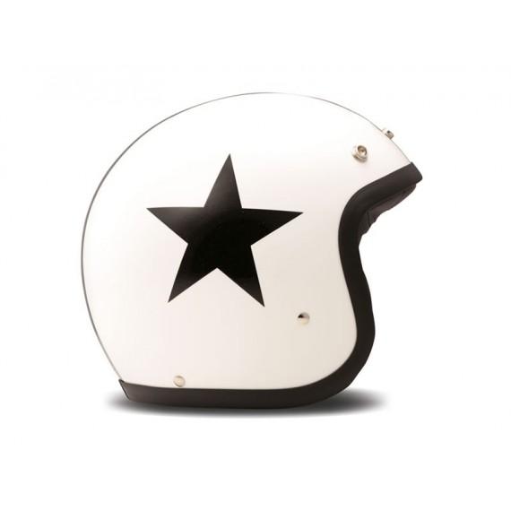 Casco Dmd Jet Vintage Star White