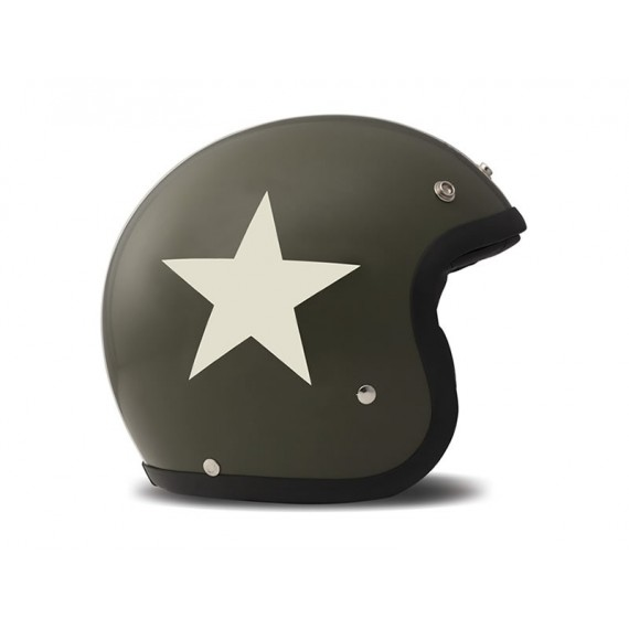 Casco Dmd Jet Vintage Star Green