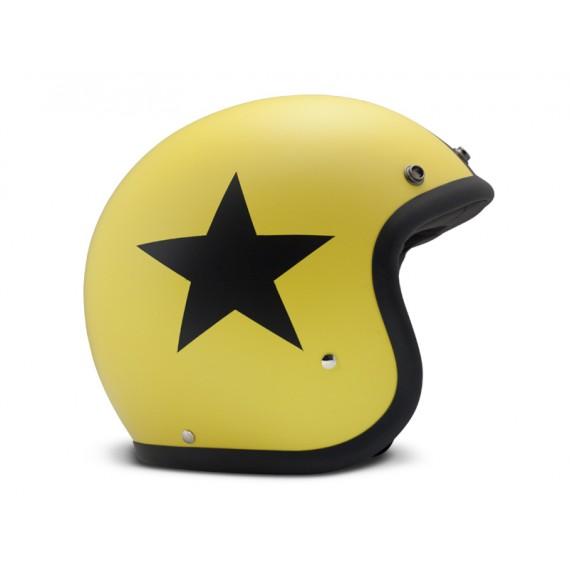 Casco Dmd Jet Vintage Star Yellow