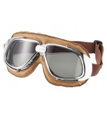 Maschera moto Bandit classic marrone lente trasparente
