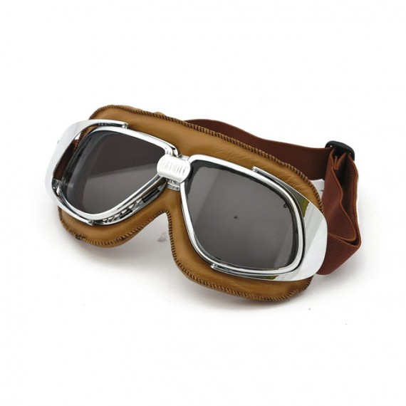 Maschera moto Bandit classic marrone lente fumè