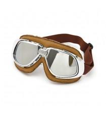 Maschera moto Bandit classic marrone lente specchiata
