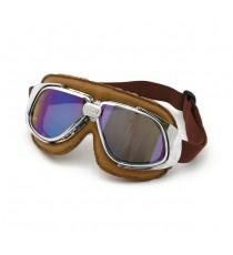 Maschera moto Bandit classic marrone lente iridium