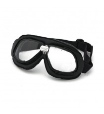 Maschera moto Bandit classic nera lente trasparente