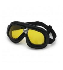 Maschera moto Bandit classic nera lente gialla