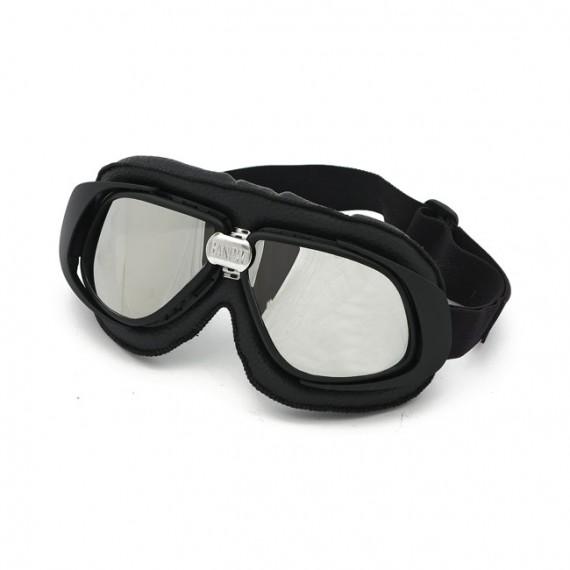 Maschera moto Bandit classic nera lente specchiata