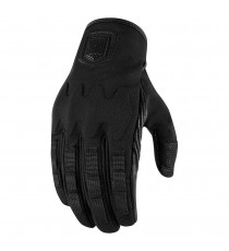 Guanti Icon 1000 Forestall in softshell nera