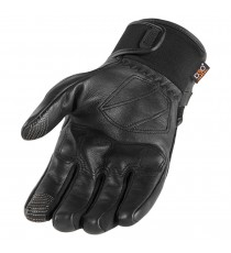 Guanti Icon 1000 Termac touchscreen in pelle nera
