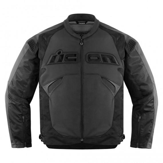 Giubbotto moto Icon 1000 santuario stealth nero