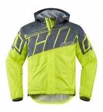 Giubbotto moto Icon 1000 Pdx2 Waterproof hiviz