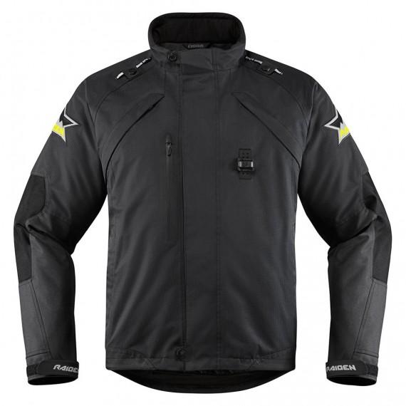 Giubbotto moto Icon 1000 Riden Dkr Monochromatic nero