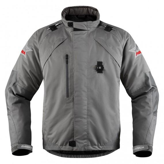 Giubbotto moto Icon 1000 Riden Dkr Monochromatic grigio
