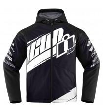 Giubbotto moto Icon 1000 Team Merc bianco