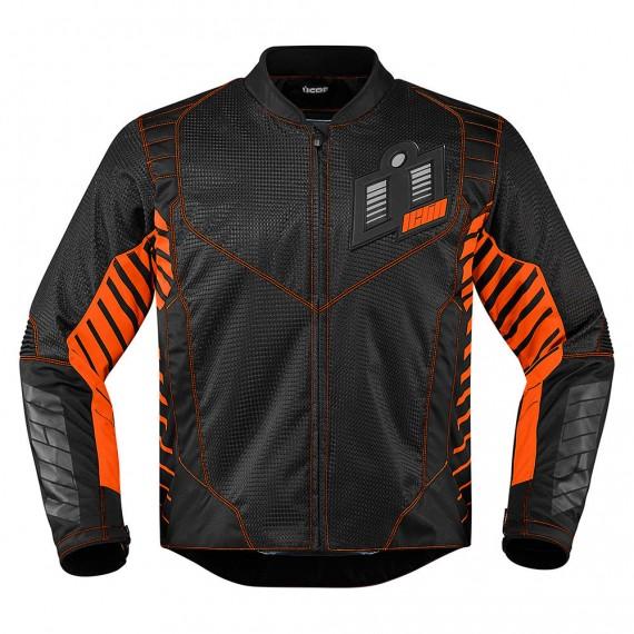 Giubbotto moto Icon 1000 wireform arancione